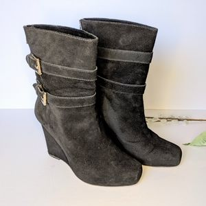 Michael Kors suede wedge boots size 8.5